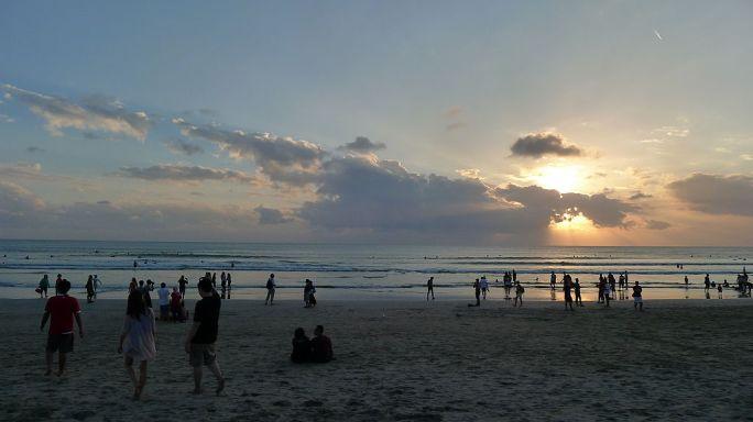 Bali - Sunset at Kuta Beach