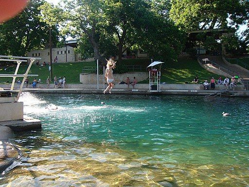 Barton Springs Pool - panoramio