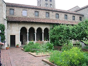The Bonnefont Cloister courtyard garden - at T...