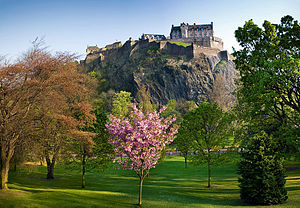 English: A view of Edinburgh Castle from the N...