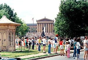 Hands Across America at Eakins Oval along the ...