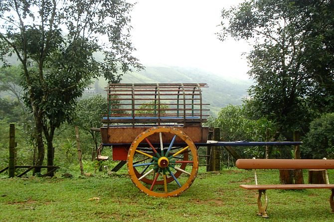 English: A Horse-Cart used to attract tourists...