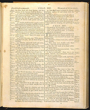 Matthew 25 (1) of The Holy Bible, King James v...