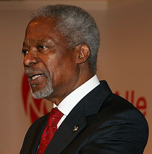 English: Kofi Annan. Former United Nations Sec...