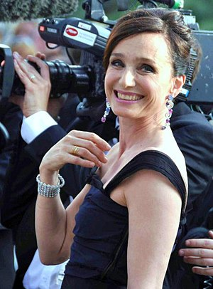 English: Kristin Scott Thomas at the Cannes fi...