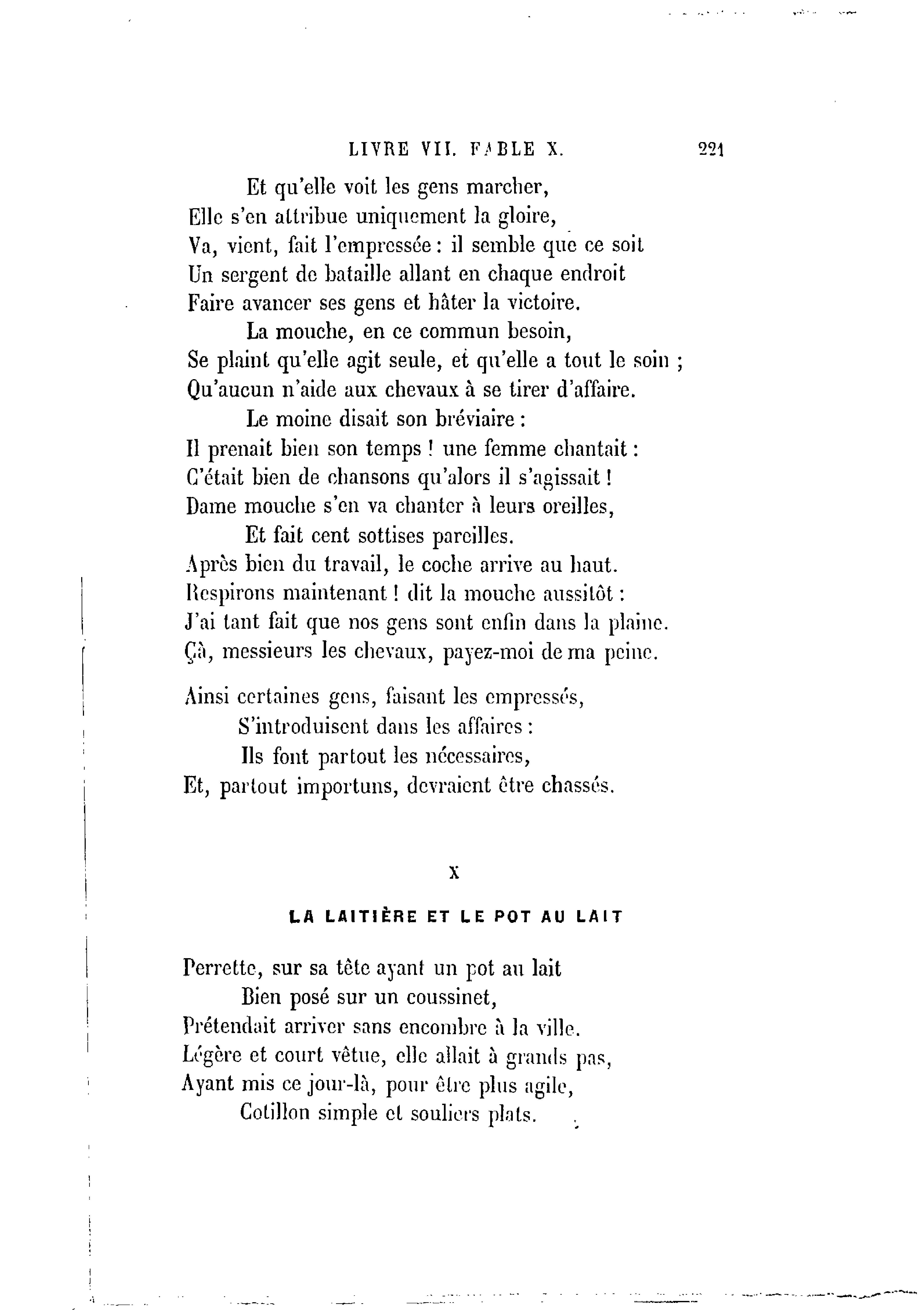 Perrette Et Le Pot Au Lait Texte : perrette, texte, Laitière, Texte
