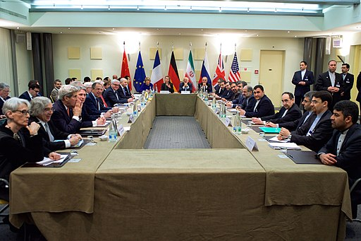 Negotiations about Iranian Nuclear Program - Foreign Ministers and other Officials of P5+1 Iran and EU in Lausanne