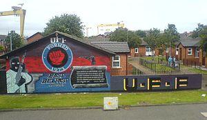 UFF mural on Newtownards Road, East Belfast