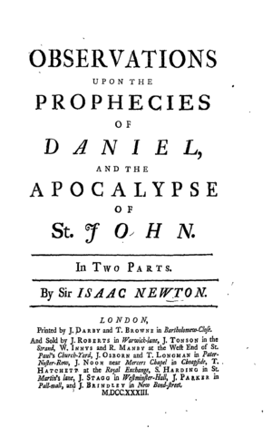 Frontispiece, Observations upon the Prophecies...