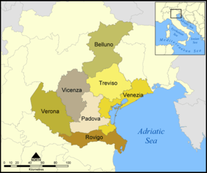 Provinces of the Italian region of Veneto
