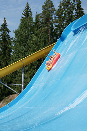Half Pipe -water slide in water park Serena.