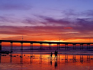 English: Ocean Beach Pier at sunset.