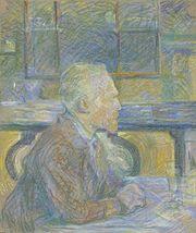 Vincent van Gogh, tranh phấn màu của Toulouse-Lautrec, 1887