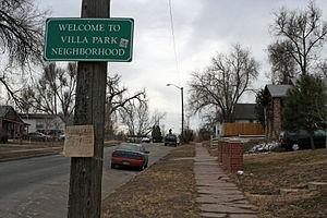 The Villa Park Neighborhood of Denver, Colorado.
