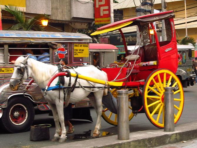 Kalesa in Manila, Philippines