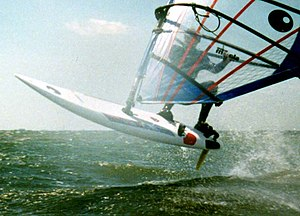 windsurfing board in the air image kils