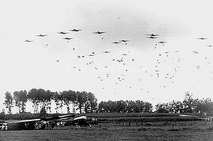English: US Army paratroopers are dropped near...