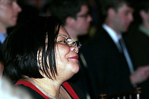 English: Alveda King at a 2009 rally by Pro-Li...
