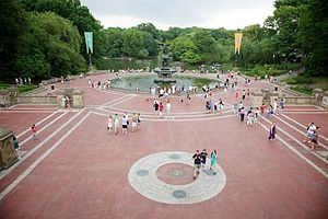 Bethesda Fountain, Central Park, New York, USA.