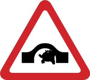 English: Humped-back bridge with A Troll under...