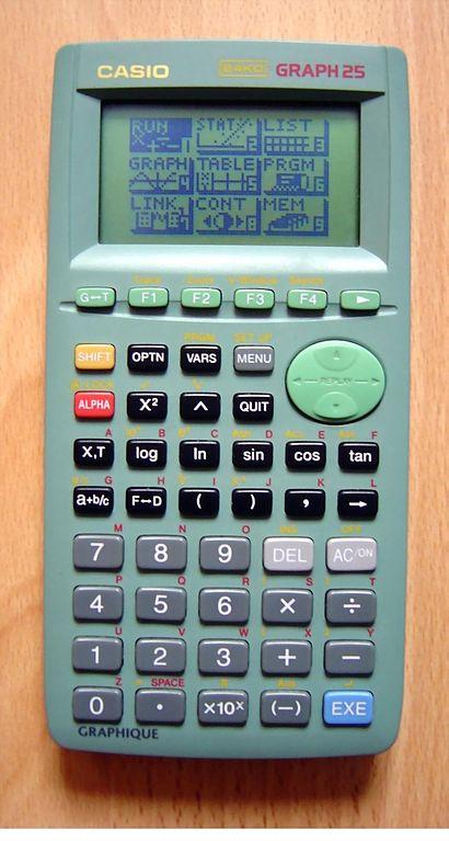 Calculatrice Casio Graph 25+ : calculatrice, casio, graph, File:Casio, Graph, 25.JPG, Wikimedia, Commons