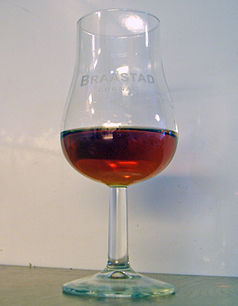 Cognac in a tulip glass
