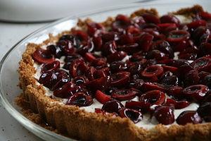 Fresh cherry tart