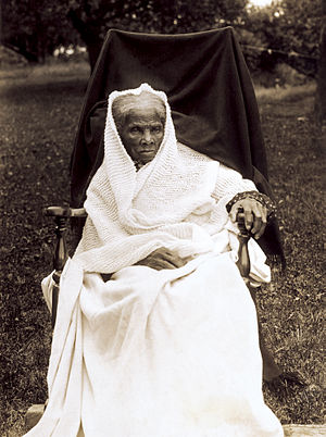 Harriet Tubman, full-length portrait, seated i...