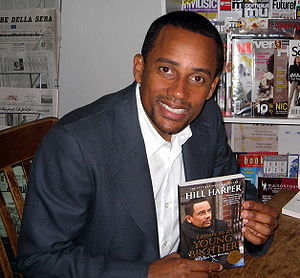 Hill Harper at Left Bank Books in St. Louis si...