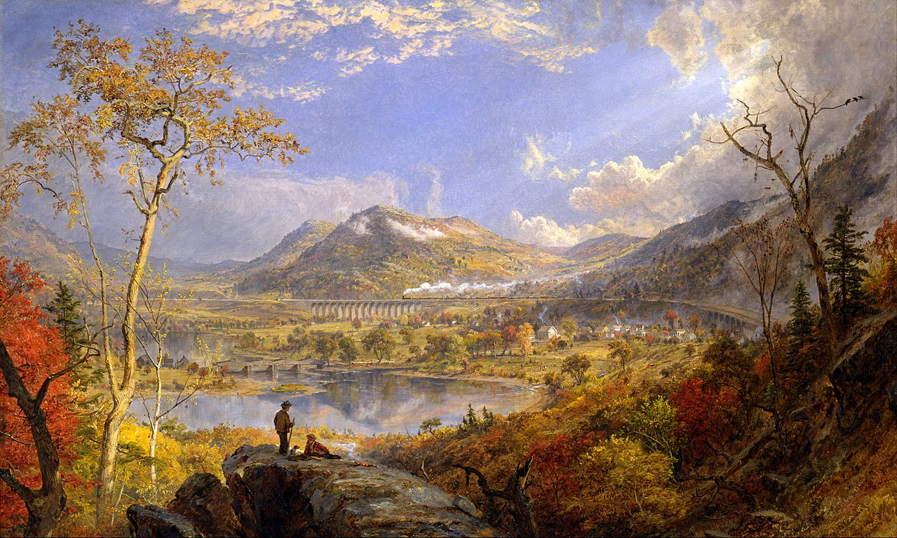 Fall Wallpaper With Deer File Jasper Francis Cropsey Starrucca Viaduct