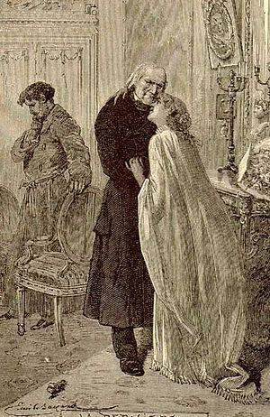Português: Jean Valjean e Cosette perto do cas...