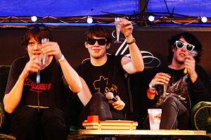 Klaxons at the Eurockéennes of 2007