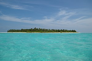 One of the uninhabited islands of Lakshadweep