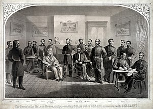 Lithograph of Lee's Surrender, with Taylor sta...