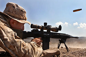 MK-11 sniper rifle USMC
