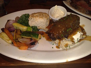 A meal at Claim Jumper which has its headquart...