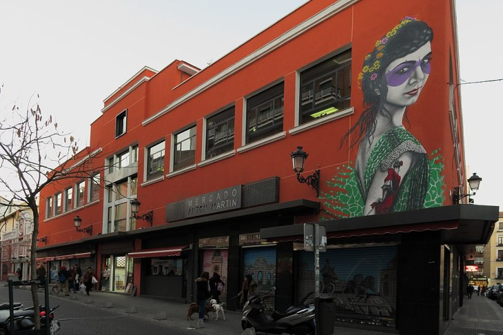 Mercado de Antón Martín, fachada calle Santa Isabel