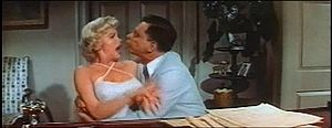 Marilyn Monroe's rejects Tom Ewell's kiss in t...