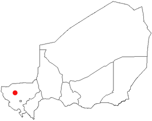 Tillabéri, Niger Location Map; created with th...