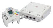 An NTSC Sega Dreamcast Console and PAL Control...
