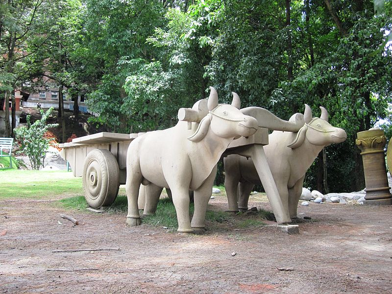 File:Stone work (Scripture) of Bulls pulling a cart - Flickr - anantal.jpg - Wikimedia Commons