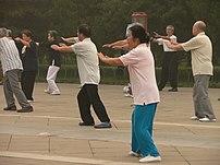 Outdoor practice in Beijing's Temple of Heaven.