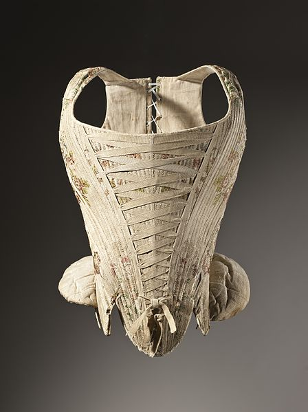 Datei:Woman's corset figured silk 1730-1740.jpg