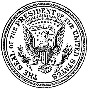 The Seal of the President of the United States...