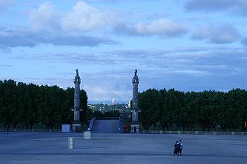 Esplanade des quinconces à Bordeaux
