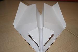 Building a paper ariplane, step 1
