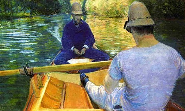 """""""Boaters on the Yerres"""" by Gustave Caillebotte"""