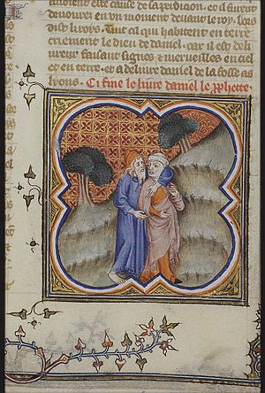Hosea and Gomer, from the Bible Historiale. De...