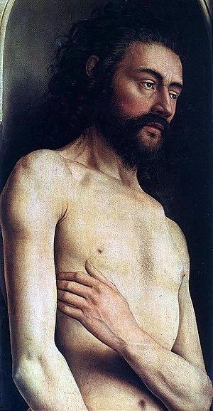 Jan van Eyck- The Ghent Altarpiece - Adam (detail)