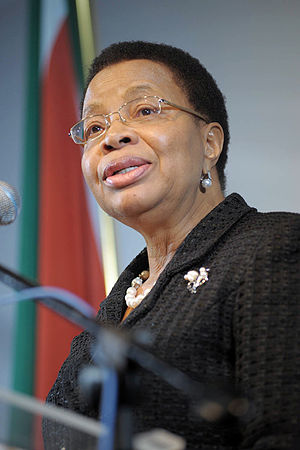 English: Madame Graça Machel at the Sports for...